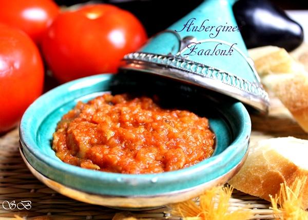 recette facile d'aubergines Zaalouk à la Marocaine à l'ail tomates et cumin