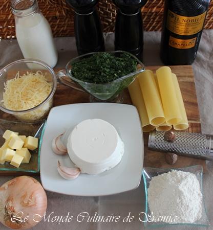 Recette facile des Cannellonis aux épinards et ricotta