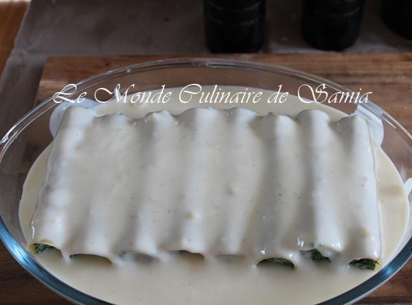 bechamel pour cannellonis epinards-ricotta