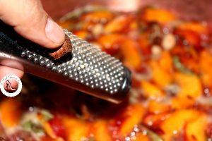 confiture de peches et verveine aux épices