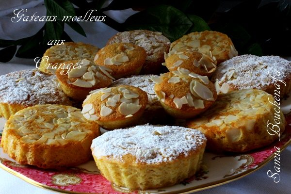 Petits Gâteaux Moelleux à la pâte d'oranges