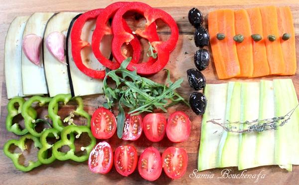 légume pizza aux légumes