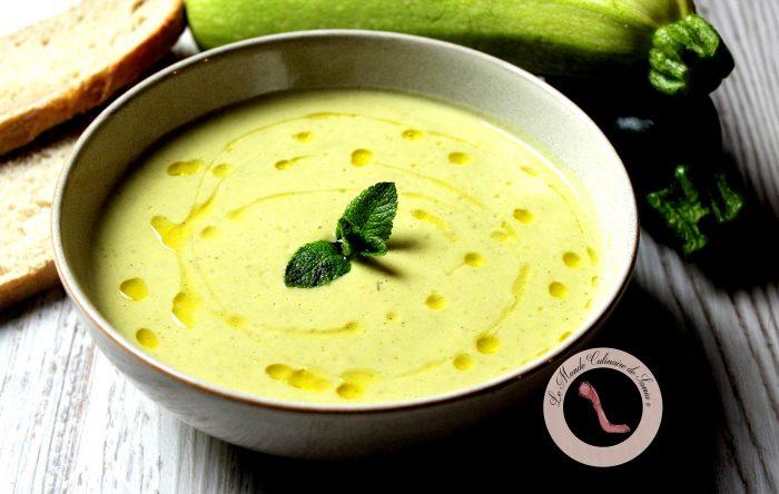 soupe veloutée de courgettes thym menthe cumin