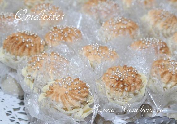 Knidlettes Algérien traditionnel-Véritable Qnidlettes aux amandes et citron