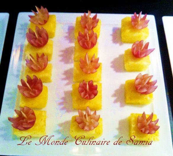 Idées de décorations avec des fruits- comment préparer un sucre neige décor