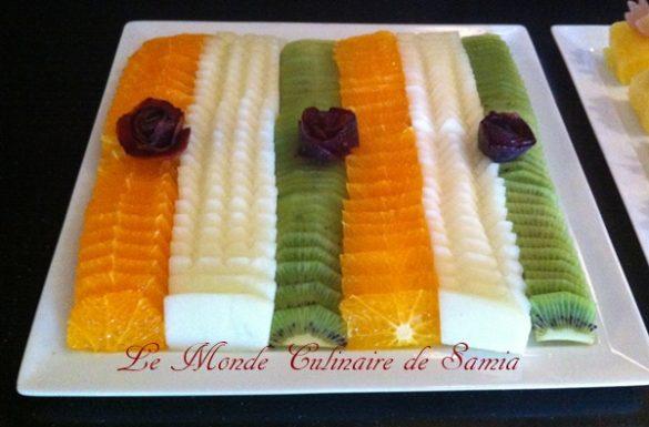 assiette de fruits ramadan