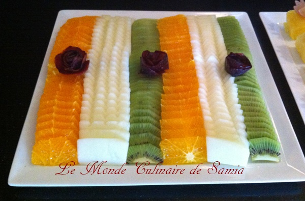 assiette de fruits ramadan