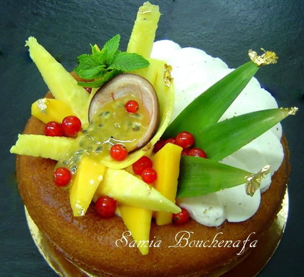 Le Savarin sans alcool aux citrons et fruits exotiques