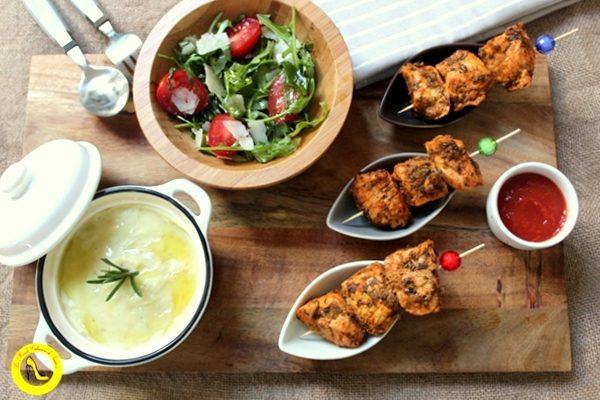 Brochettes de poulet à l'Indienne au tandoori maison