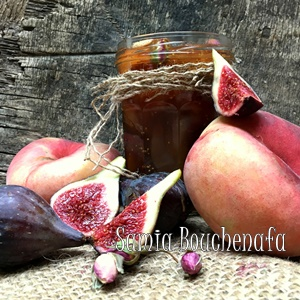 confiture peche figue et rose inratable