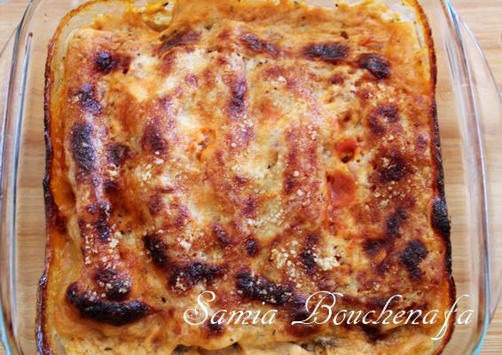 Gratin facile de Cannellonis aux aubergines et viande hachée