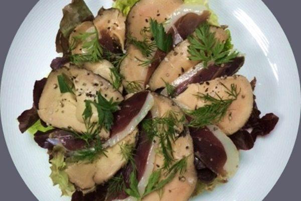 Salade du Gers-le canard en 2 façons-foie gras et magret