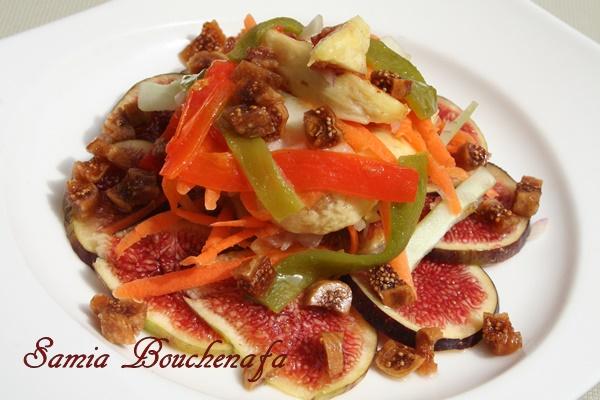 salade fraîche aux figues et poivrons facile