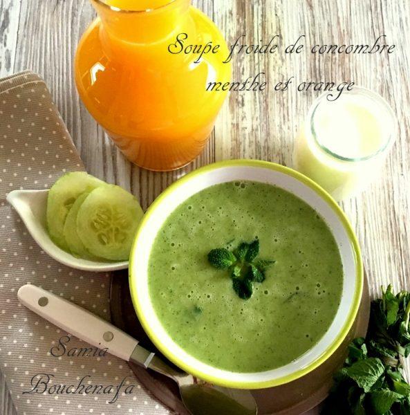 soupe glacée concombre orange
