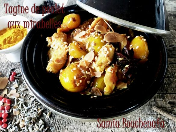 Tagine de poulet aux mirabelles et aux épices