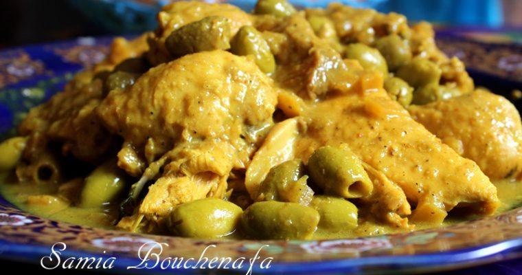 Tagine de poulet aux olives et citrons confits à la Marocaine