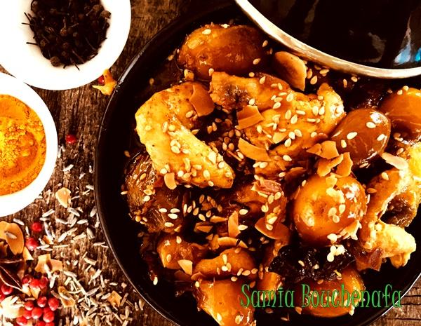 tagine marocain poulet mirabelles