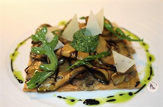 tarte feuilletée semi-inversée aubergine