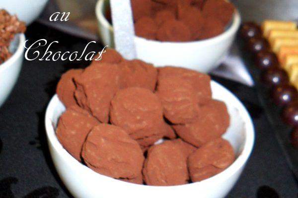Recette de truffes fondantes au chocolat et cacao