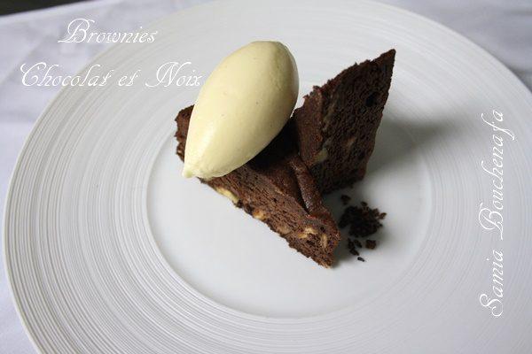 THE brownie chocolat et noix fondant moelleux