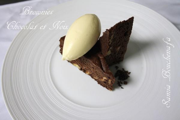 browni chocolat noir et noix