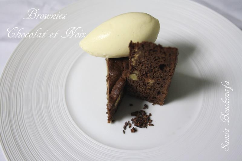 brownies chocolat noir noix