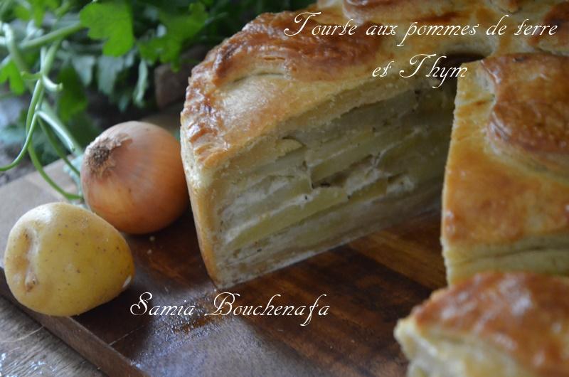 tourte de pommes de terre fondante aux oignons et thym