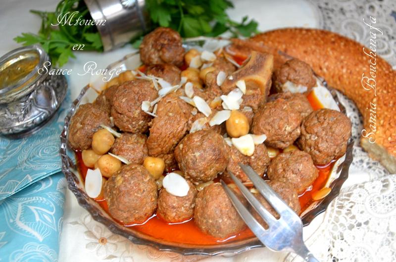 Mtouem Algérien sauce rouge