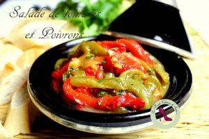 salade de poivrons doux et tomate