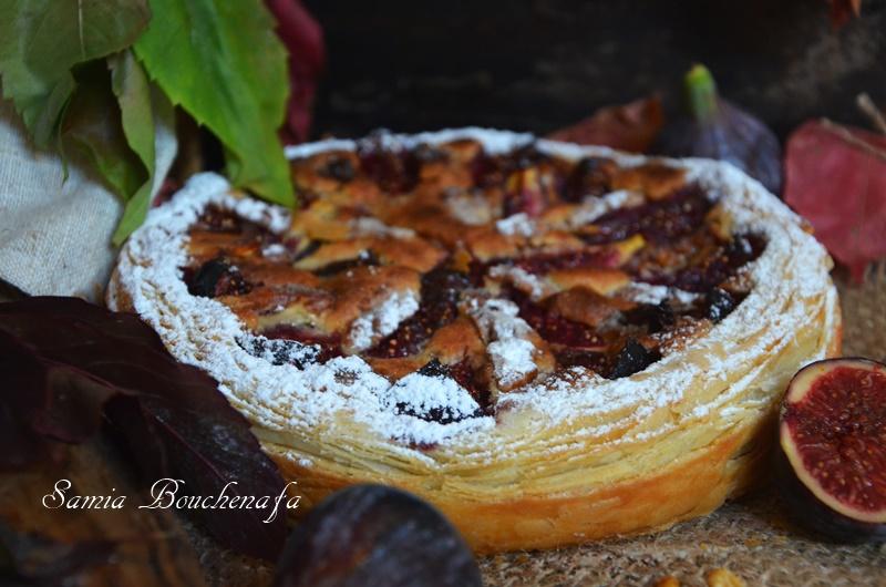 tarte feuilletée aux figues avec feuilletage semi inversé