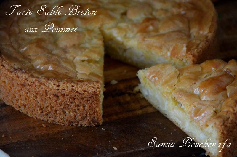 tarte au sablé breton fourré aux pommes