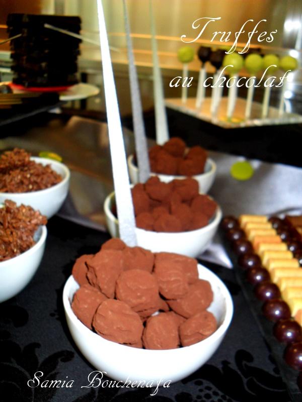 truffes au chocolat et cacao