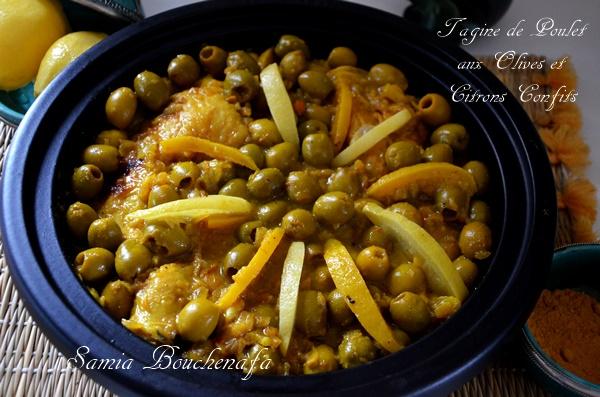 tadjine de poulet olives vertes citrons confits