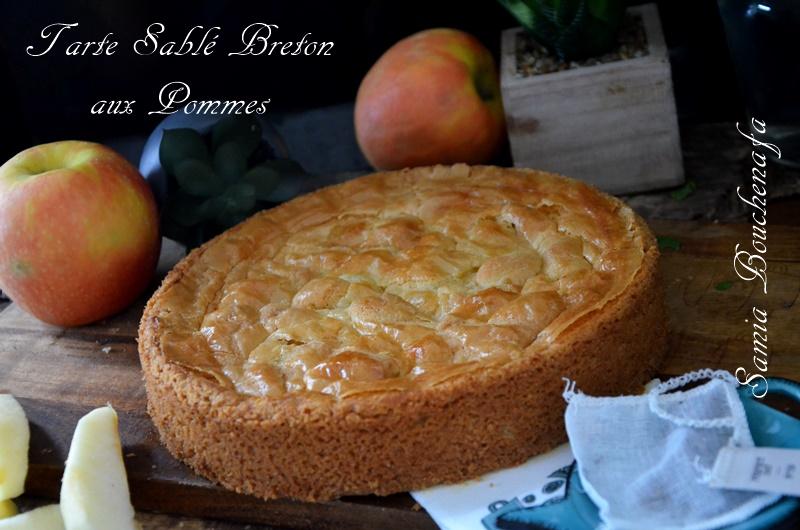 tarte sablée bretonne aux pommes et crème amande