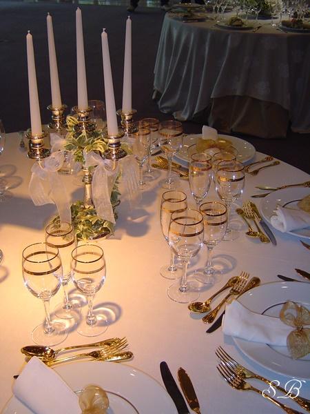 centre de table bougies