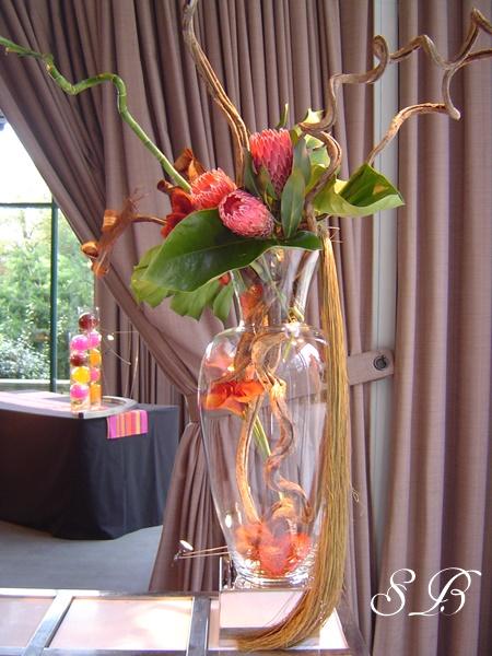 vase et fleur buffet traiteur