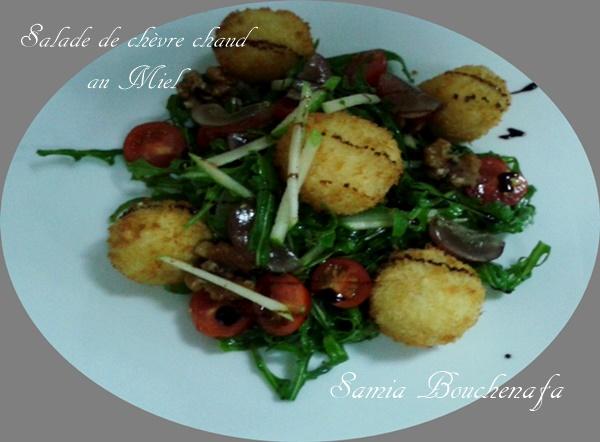 salade de chèvre chaud au panko et miel