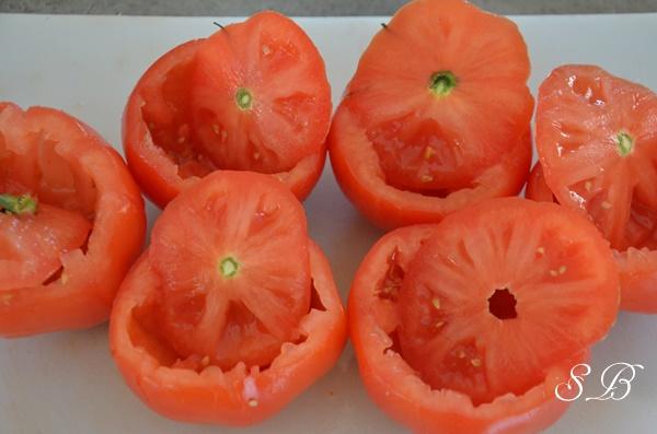 tomates vidées des tomates farcies