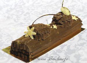 bûche traditionnelle au chocolat