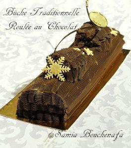 bûche chocolat crème au beurre