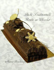 bûche traditionnelle chocolat creme beurre