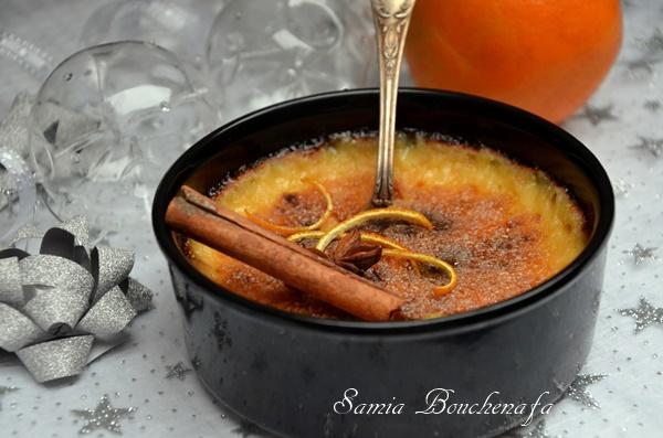 creme catalane au zeste d'orange et cannelle