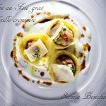 ravioles farcies au foie gras et volaille