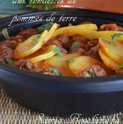 Tagine Kefta fumé aux rondelles de pommes de terre