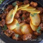 tagine kefta épices fumées et pommes de terre