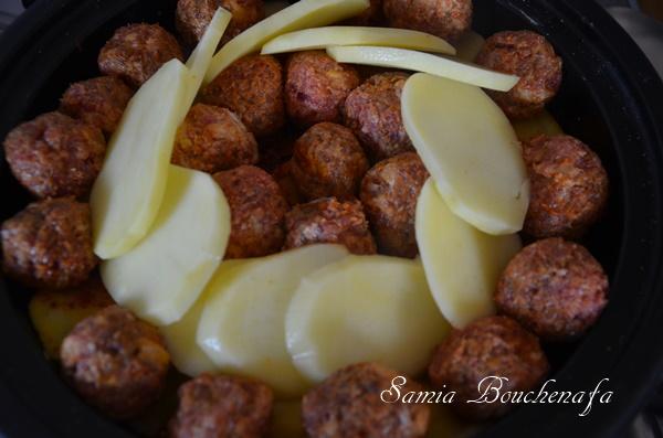pommes de terre tagine kefta fumé