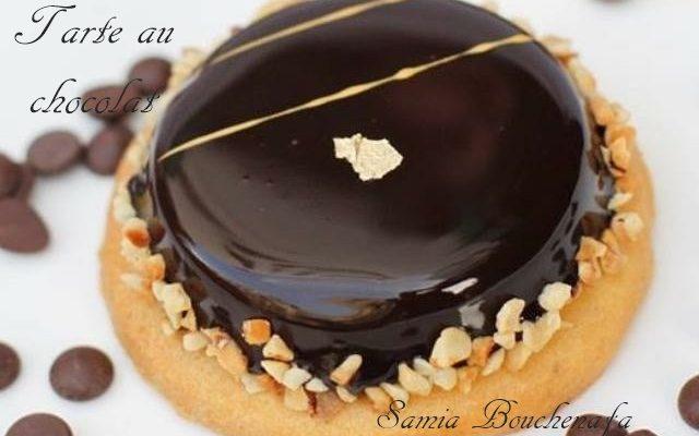 Tarte chocolat glaçage miroir brillantissime