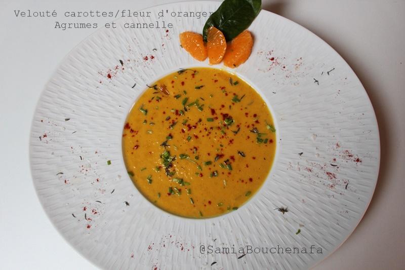 velouté carotte agrume fleur oranger cannelle