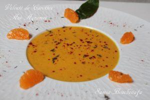 carottes veloutées agrumes fleur d'oranger