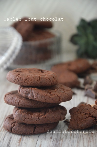 sablés chocolat infiniment bons